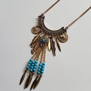 Jewelry - Trendy Tribal Boho Dangle Necklace